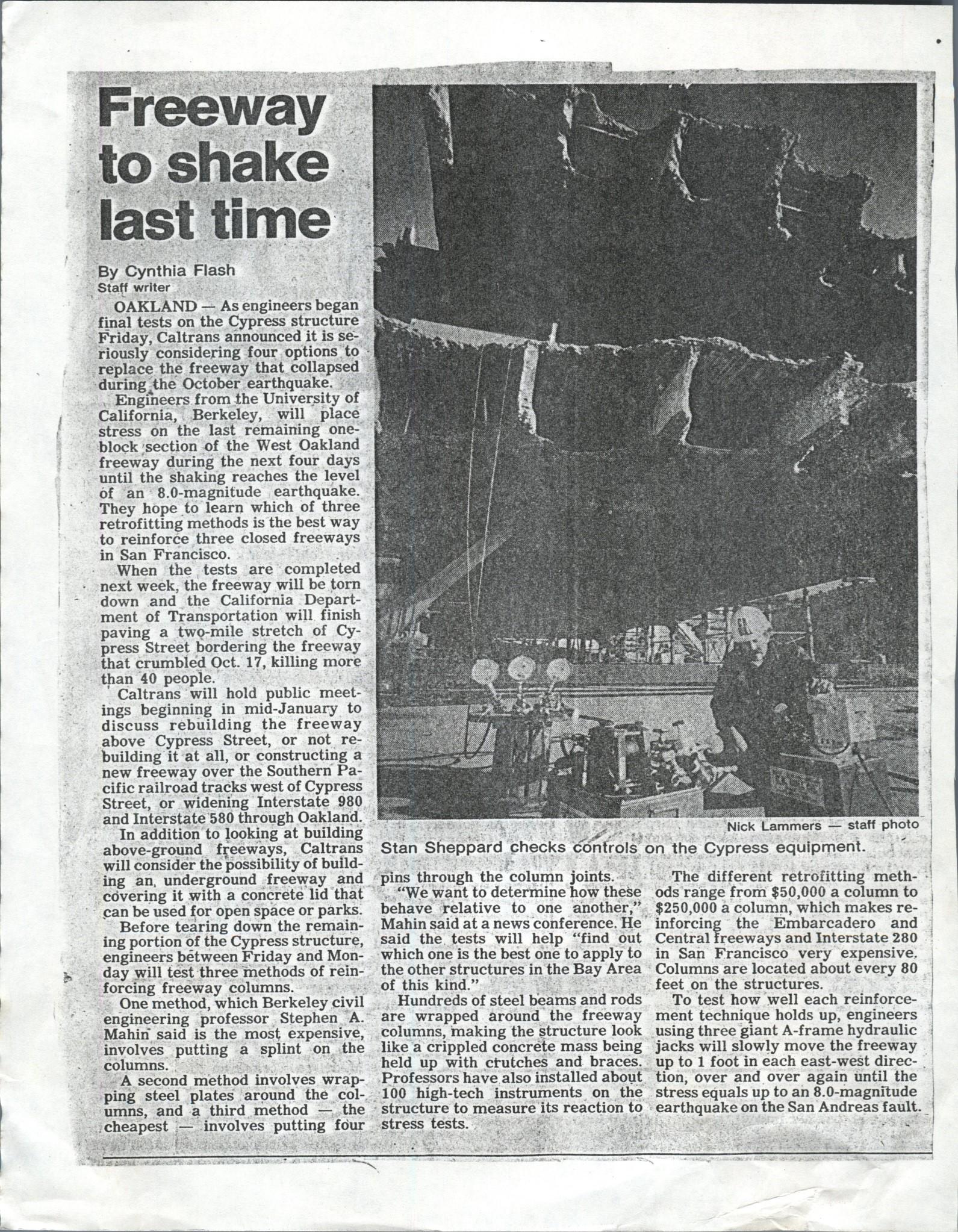 EARTHQUAKE ARTICLE