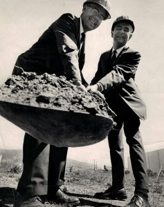 Harry Sheppard and Charles Bull 1965 Groundbreaking
